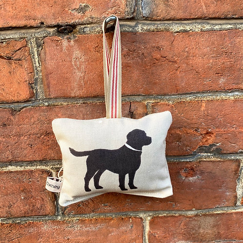 Lavender Door Hanger - Black Labrador Print