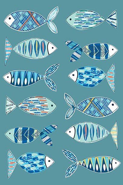 Fish Illustration Greetings Card