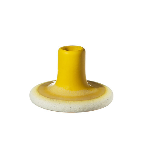Mustard Yellow Ombré Glaze Candle Holder