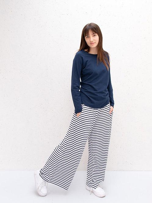 Chalk Luna Pants - Navy Stripe