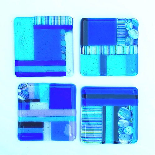 Handmade Fused Glass Coaster - Lucky Dip