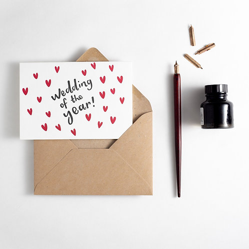 'Wedding of the Year!' Card