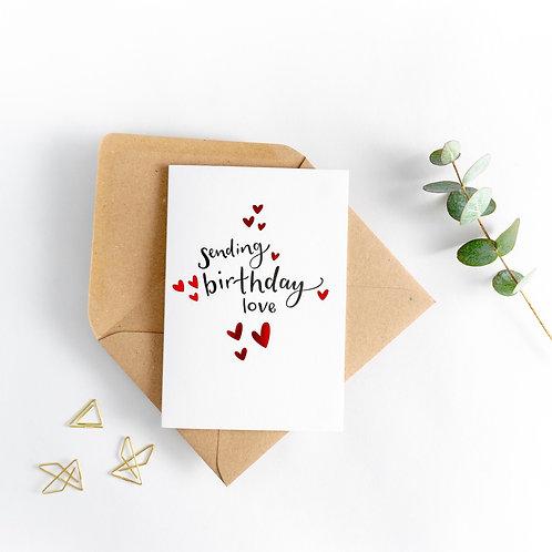 'Sending Birthday Love' Card