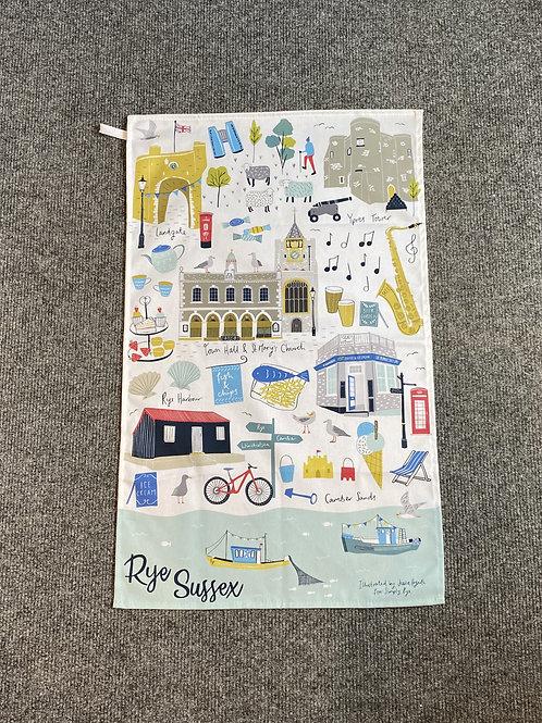 Rye Landmarks Tea Towel