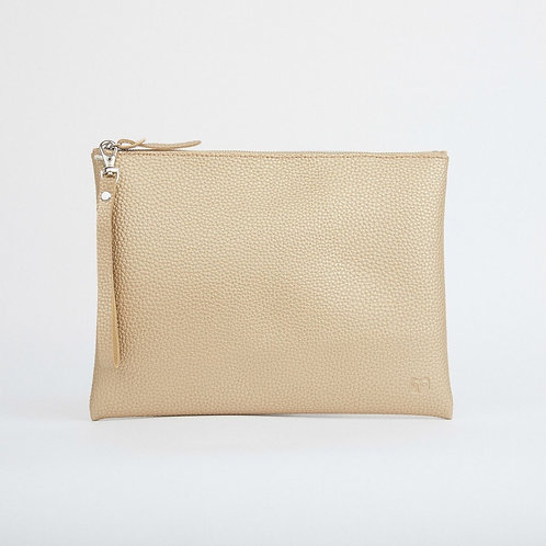 Peruvian Pouch - Silver/Gold