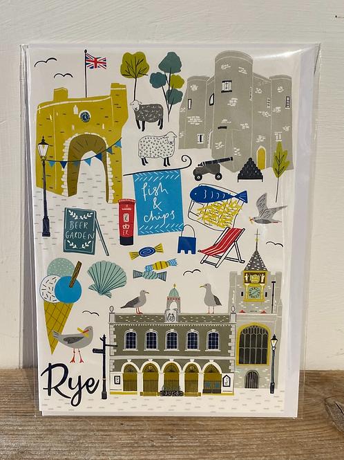 Rye Landmarks Greetings Card