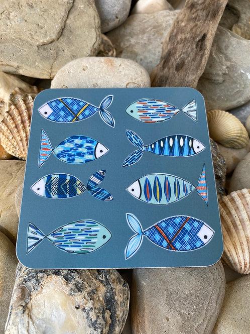 Fish Illustration Coaster