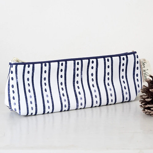 Sam Wilson Pencil Case/Make Up Bag - Stripe & Dash