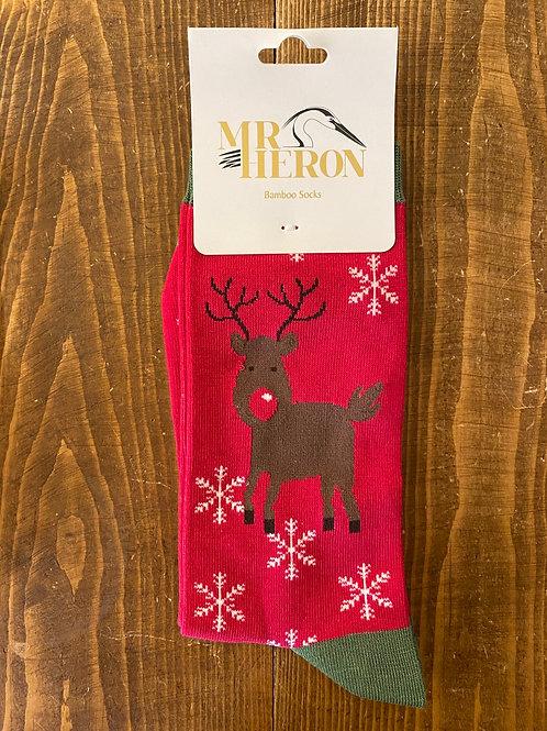 Mr Heron Christmas Socks