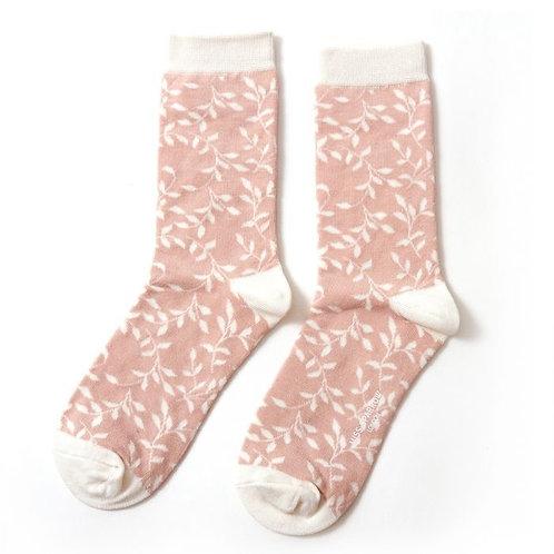 Miss Sparrow Trailing Leaves Socks