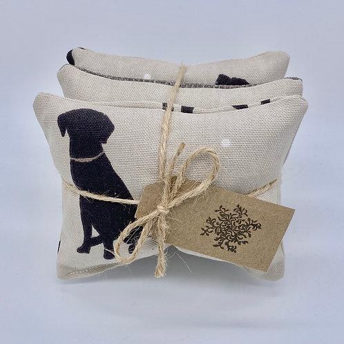 Lavender Drawer Sachets (3) - Black Labradors