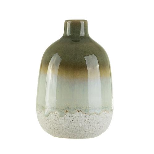 Green Ombre Glaze Vase