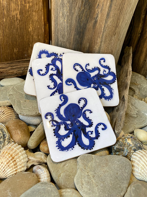 Octopus Coasters (Set of 4)