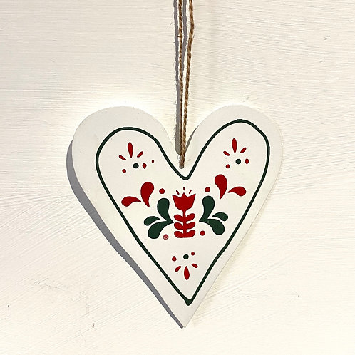 Hanging Nordic Heart Decoration