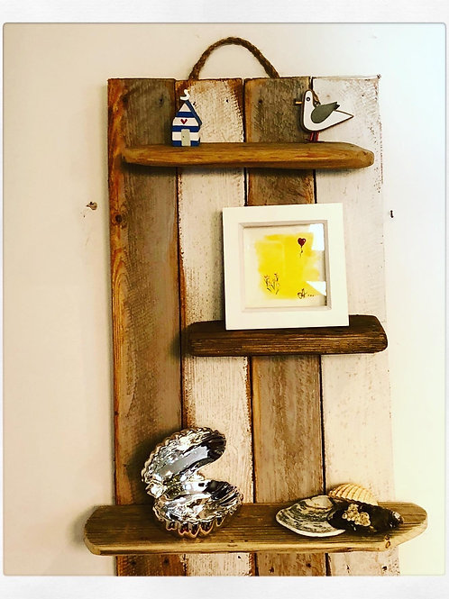 Handmade Driftwood Display Shelf - Small