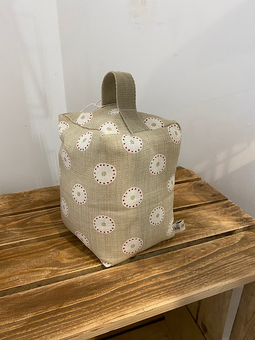 Handmade Fabric Door Stop - Dotty Circles