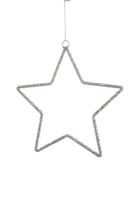 Silver Beaded Star