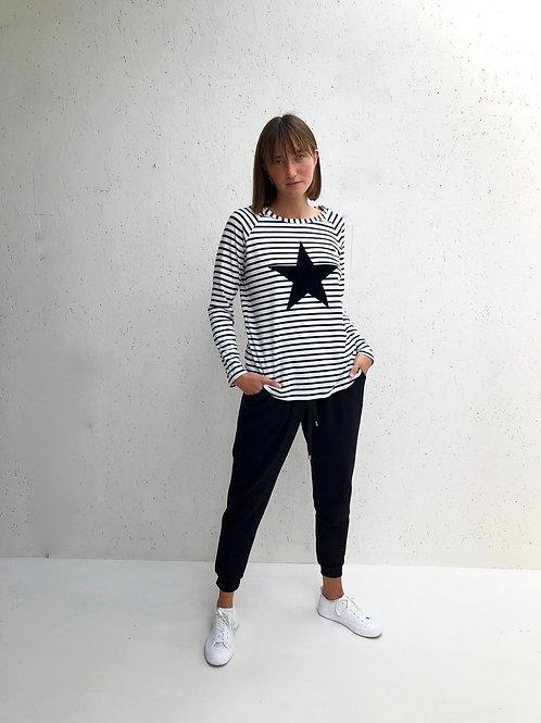 Chalk Tasha Top - Black Stripe