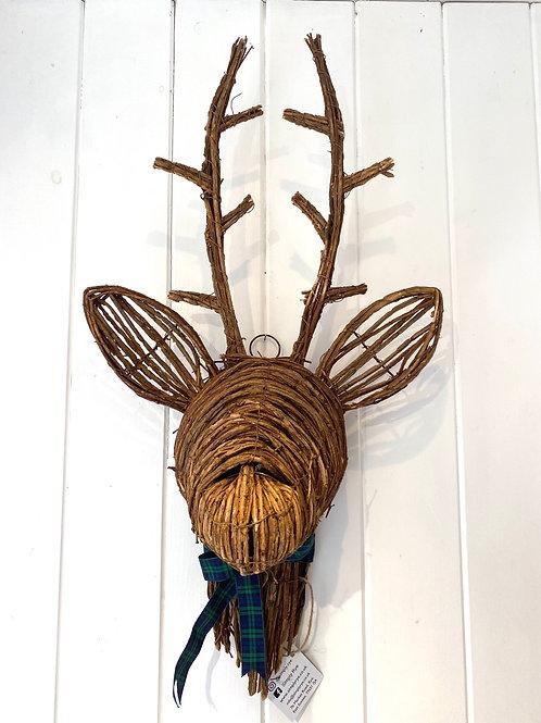 Rattan Reindeer Head