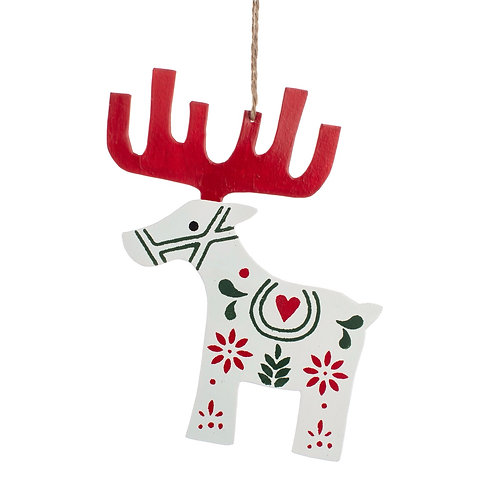 Hanging Nordic Reindeer Decoration