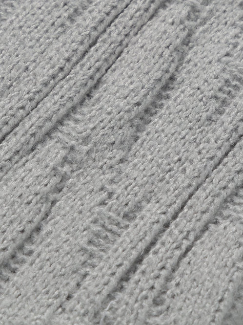 Chalk Cosy Cable Socks - Silver Grey