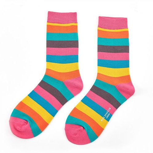 Miss Sparrow Rainbow Stripes Socks