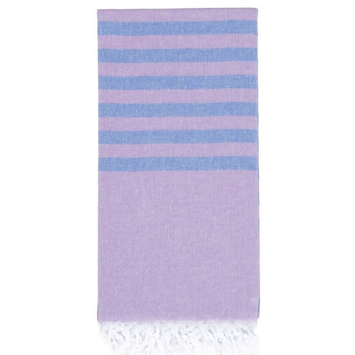 Lightweight Hamam Towel - Lilac/Cornflower