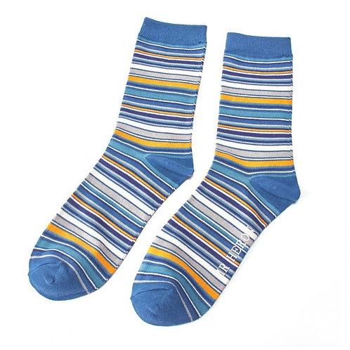 Mr Heron Thin Stripes Socks