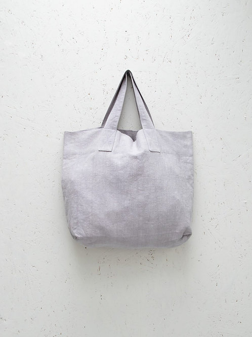 Silver Shopper Bag