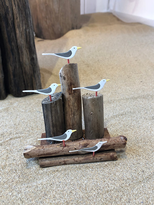 Gulls on Lookout Ornament