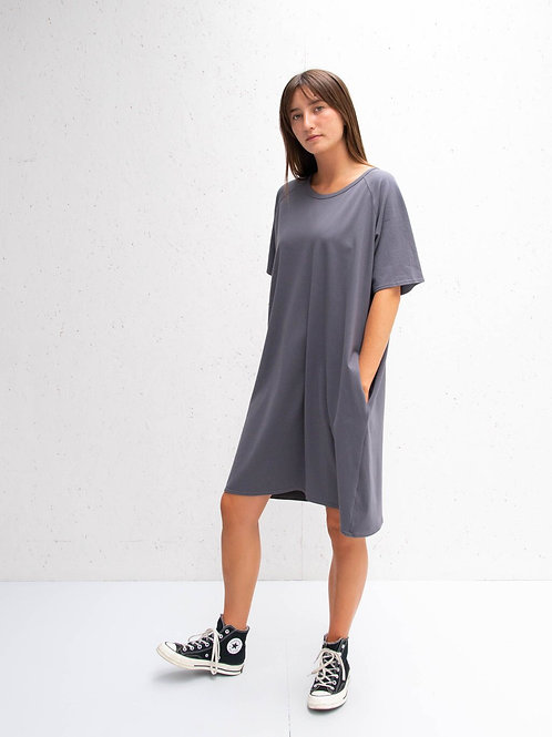Chalk Linda Dress - Charcoal