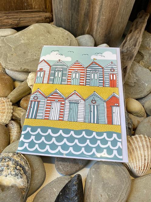 Beach Huts Greetings Card