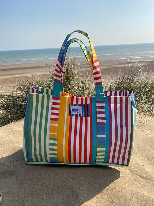 Striped Large Beach Bag