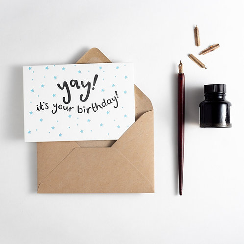 'Yay It's Your Birthday' Card