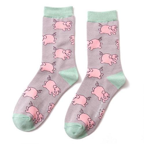 Miss Sparrow Pigs Socks