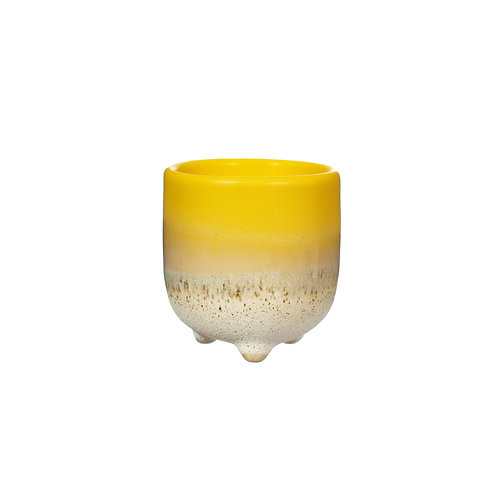 Mustard Yellow Ombre Glaze Egg Cup