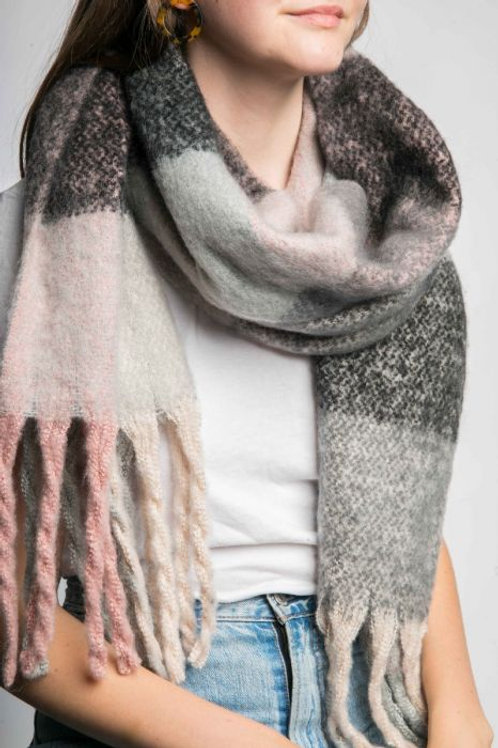 Meg Winter Scarf - Pink