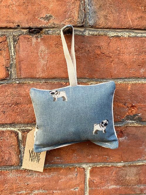 Lavender Door Hanger - Pug Print