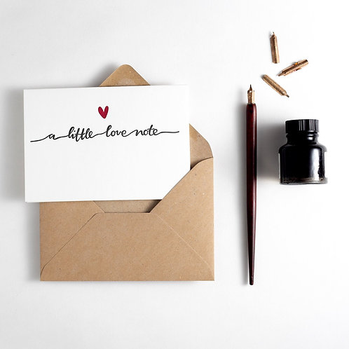 'A Little Love Note' Card