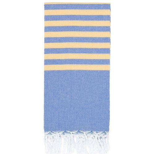 Lightweight Hamam Towel - Cornflower/Daisy