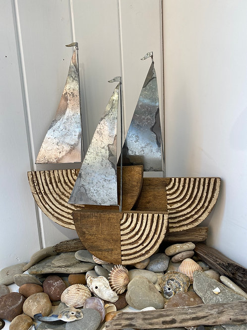 Scandi Chic Sailboat Wall Art