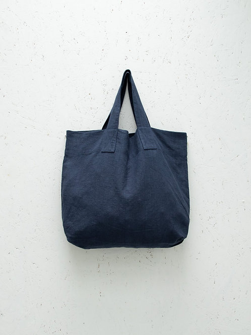 Chalk Shopper Bag - Navy