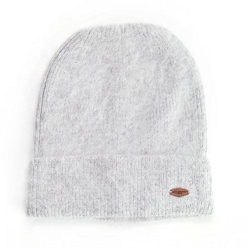 Verona Angora Hat - Silver