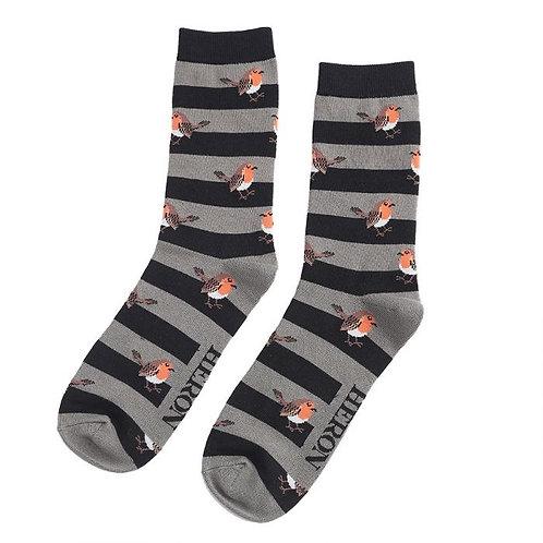 Mr Heron Robin Stripe Socks