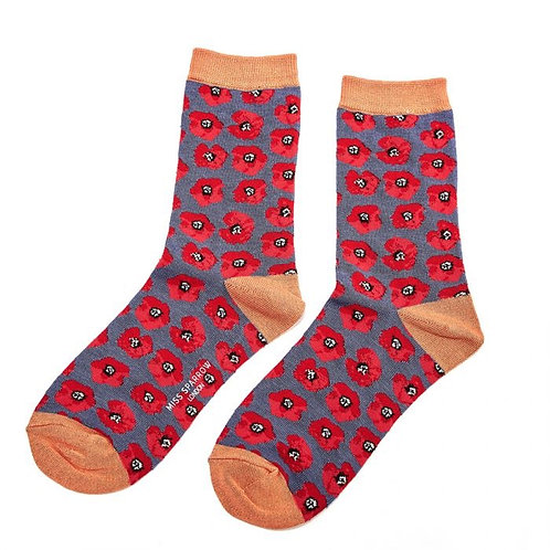 Miss Sparrow Poppy Socks