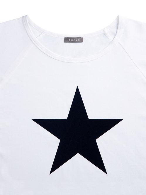 Chalk Darcey Top - White/Navy Star