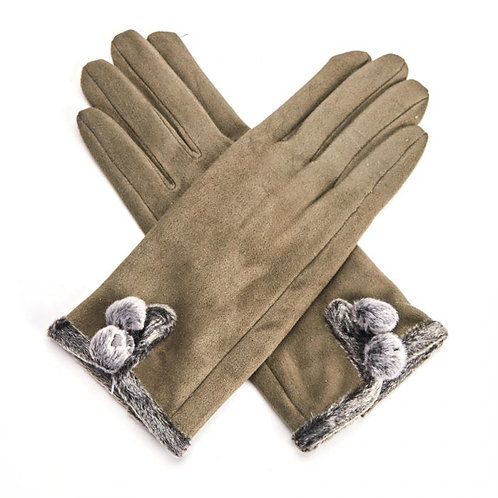 Betty Gloves - Olive Green