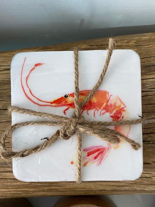 Shrimp Coasters (Set of 4)