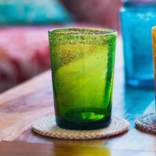 Handmade Green Glass Tumbler