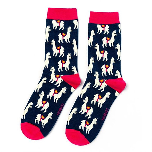 Miss Sparrow Llamas Socks